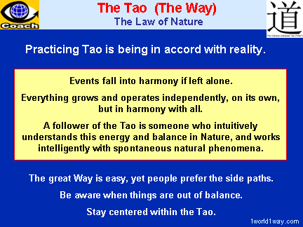 TAO (The Tao) - The Way and the Law of Nature