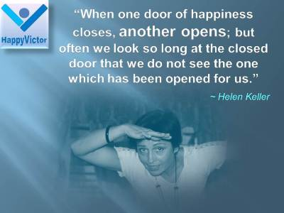 great happiness quotes, wimen quotes, Helen keller, Happy Victor