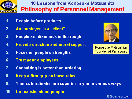 HRD and Personnel Management: 10 Lessons from Konosuke Matsushita