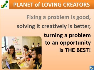 Problem solving quote Vadim Kotelnikov cps turn problems to opportunities