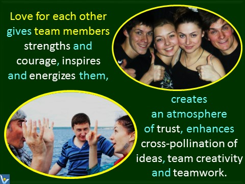 Passionate team quotes, love for each other, Vadim Kotelnikov photogram