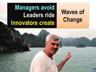Best change management quotes Waves of change innovators create leaders ride managers avoid